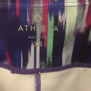 Athleta Pants - Athleta crop colorful striped leggings sz XS